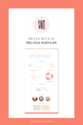 Logo Design and Brand Design Reveal for Melissa Koehler by graphic designer and logo lettering designer, Holly McCaig Creative.