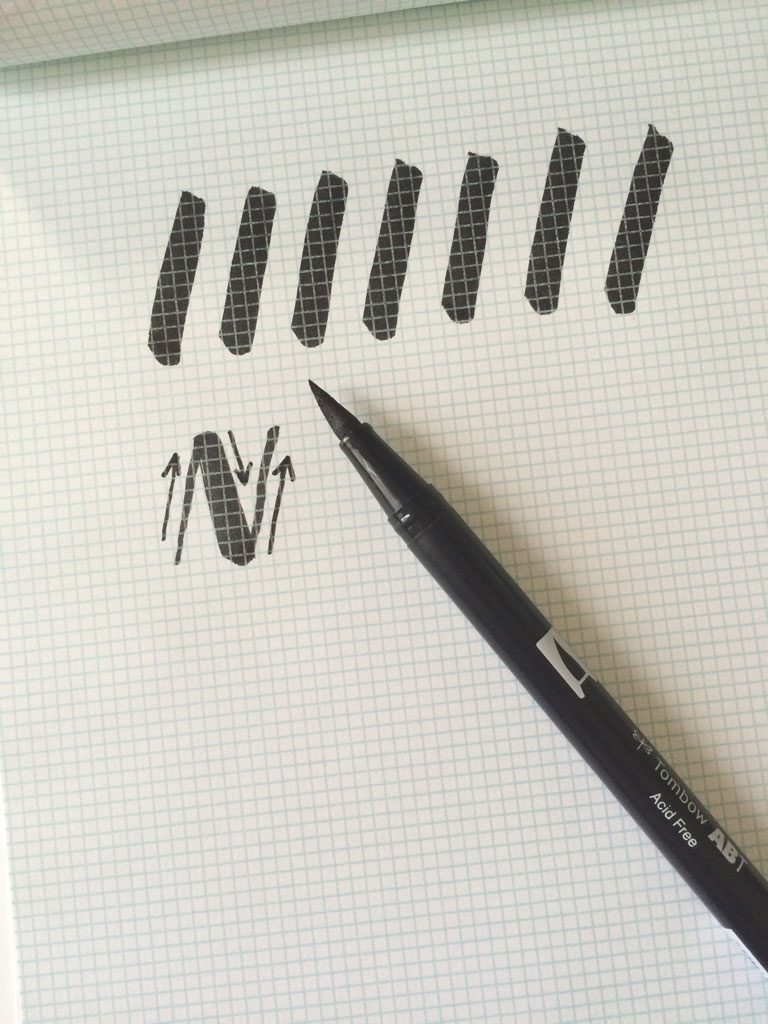 Easy to follow brush lettering tutorial holly mccaig
