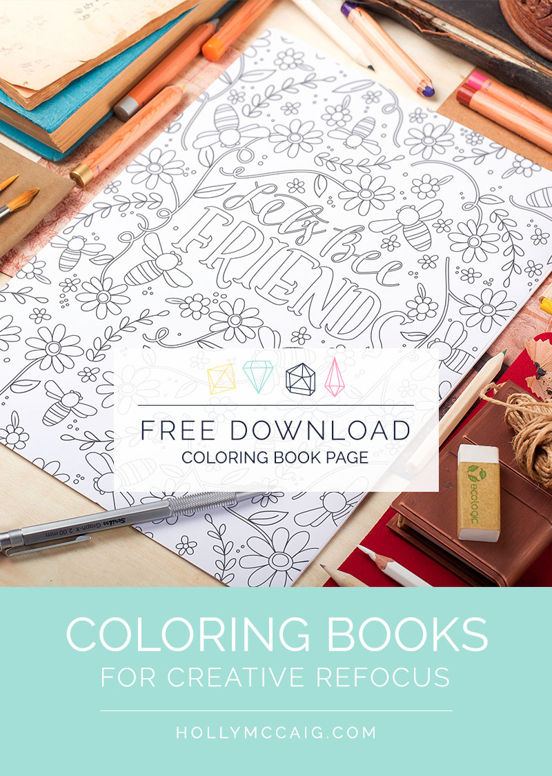 Coloring can help you reset your focus on creativity projects. Let me explain! Also, click through so you can download this free coloring book page for adults,