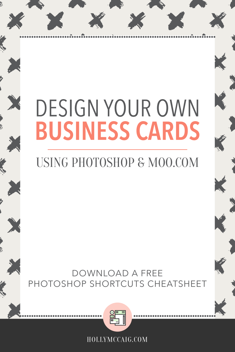 Design your own business cards using Photoshop and for the Moo.com Luxe Business Card line. Click for a video tutorial!