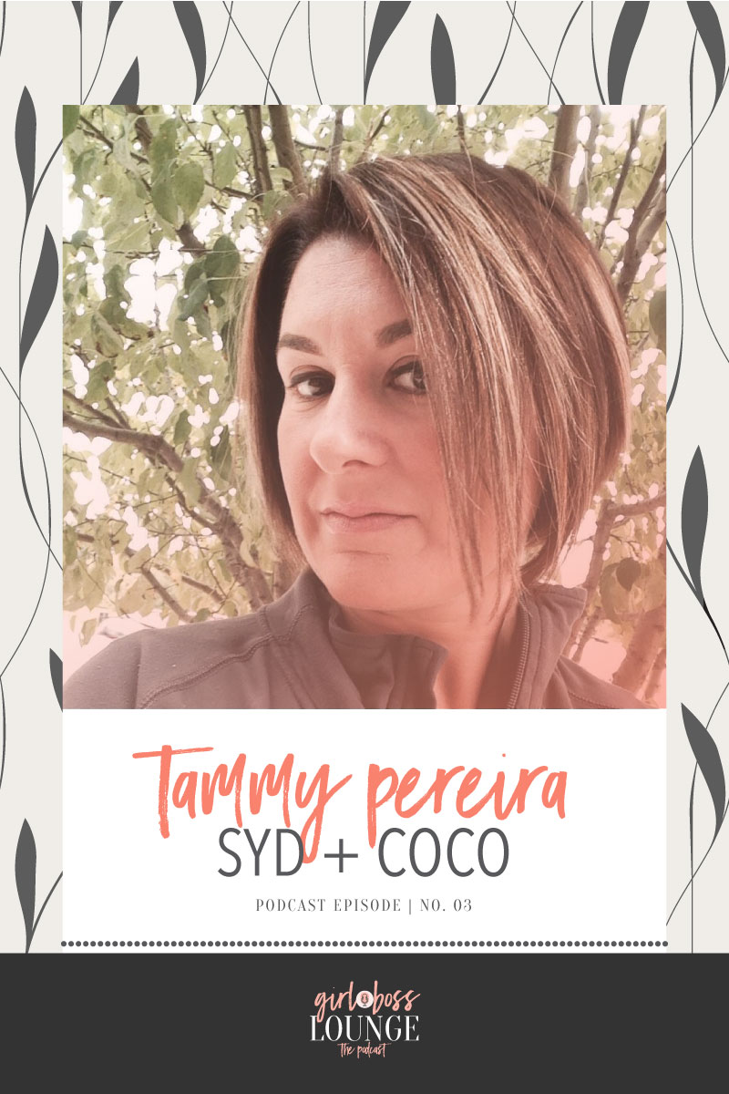 Girl Boss Lounge Podcast is a weekly podcast for female bloggers and biz owners striving for connections and encouragement. Girl Boss Lounge Podcast is hosted by Holly McCaig Creative. Episode 3 with Tammy Pereira of Syd + CoCo.