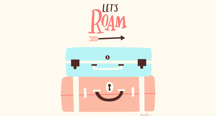 Let's Roam Illustrated and Hand Lettered Print