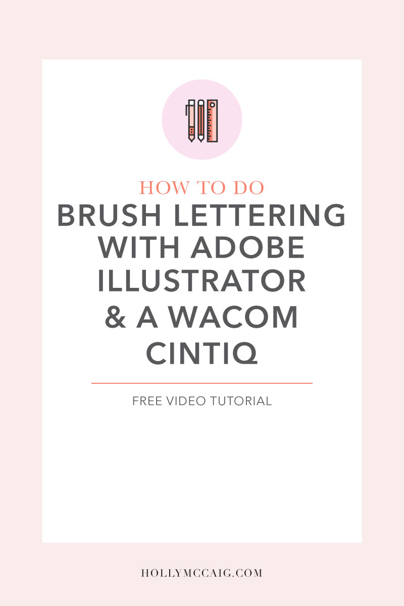 Learn how to do brush lettering with Adobe Illustrator & a Wacom Cintiq. It's super easy! I show you how I do it with my new video tutorial.