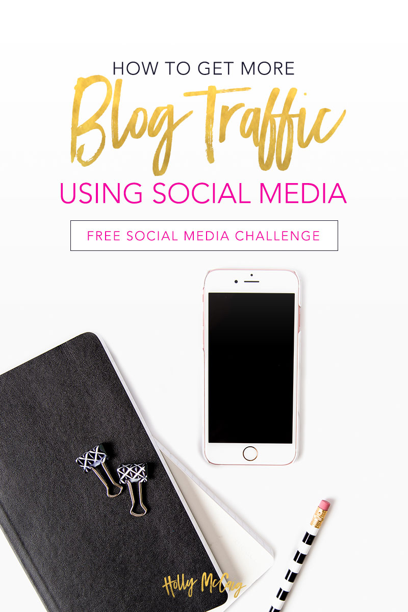 Want to get more blog traffic? Don't have a lot in the budget? That's easy. We're going to get more blog traffic using a social media challenge you will be excited about doing. Click through to take the free 30-day challenge and watch your blog grow and get more engagement.