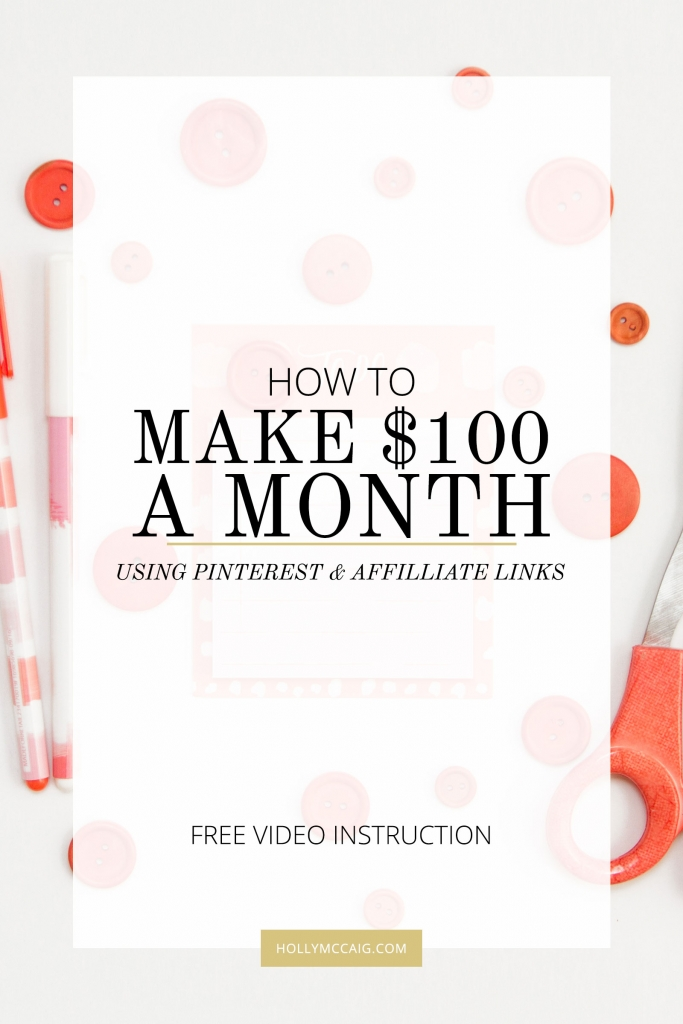 Learn how I make $100 a month easily with Pinterest. I'm not one to shy away from money, no matter how little it is. Hey, $100 isn't anything to sneeze at, am I right? I made the decision to try an experiment, and it worked. Keep reading for a video tutorial and how I make $100 a month easily with Pinterest.