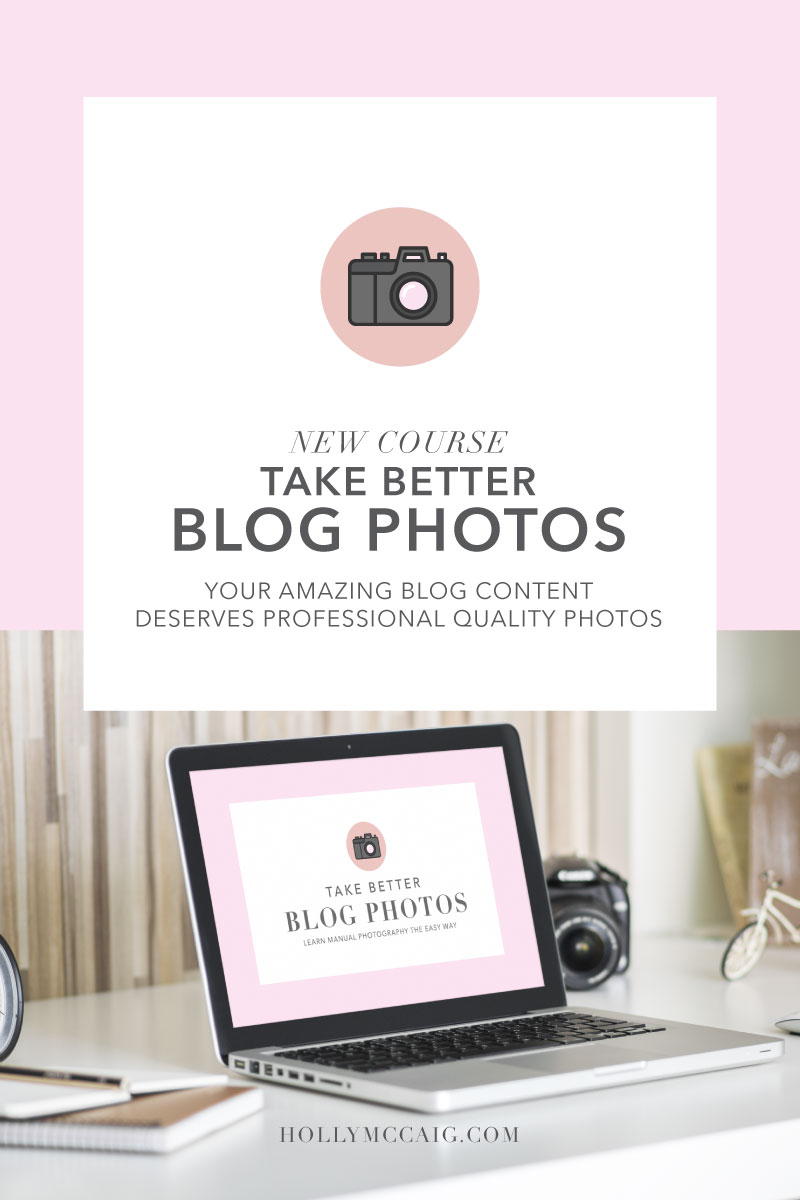 Learn how to take better blog photos with this course that will teach you how to work your DSLR camera manually and up your branding game. Bonus items and community make it easy to learn from a 20+ year professional.