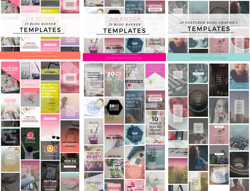 Enter to win my Blogging and Pinterest Graphics Bundle (all three)! Three winners will be chosen + watch a video tutorial on how to use them and implement these templates into your blogging business!
