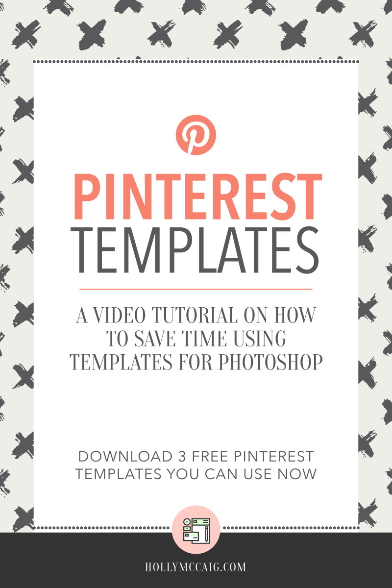Creating stand out Pinterest images doesn't have to take a lot of time. In fact, I can help you speed up your workflow with my Pinterest Templates for your blog and social media marketing. These graphics templates are for Adobe Photoshop users. And, you can download THREE free Pinterest templates right now! Watch my video tutorial to see how easy these are to use!