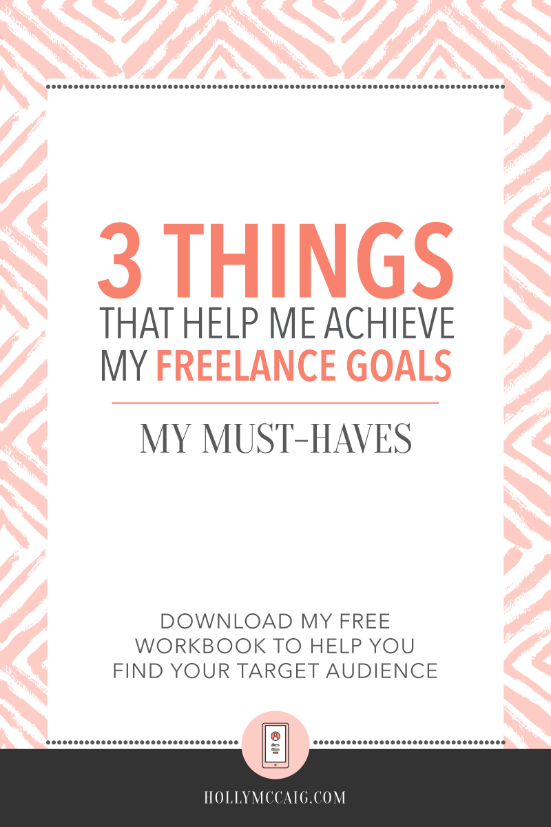 Working for yourself is great, but there are three things that I can't live without to make it work. Here are 3 things that help me achieve my freelance goals.