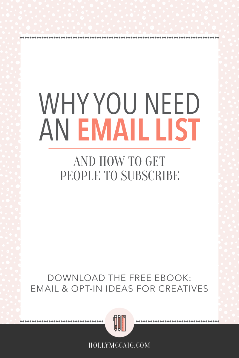 Ever wonder why you need an email list? Or, how to get people to subscribe to your email list? I am going to tell you why, and help you start building an email list of loyal followers to share your value with. Click through to also download a FREE workbook of email ideas and opt-in ideas you can use!