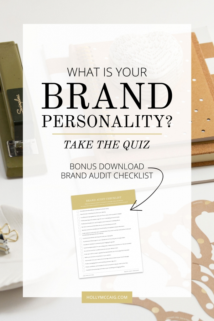 Your brand personality is something that your audience can relate to and is consistent with your content, your products, and your overall brand presence. Ever wonder what yours is? Take the free quiz today! Visit at hollymccaig.com